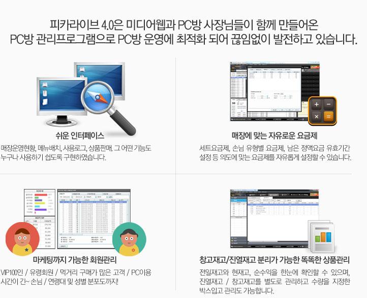 피카라이브 제품소개